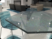 HologramGlass table