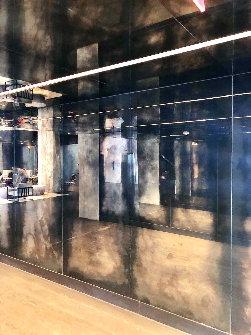 Antique MIrrors The Line Hotel Austin full