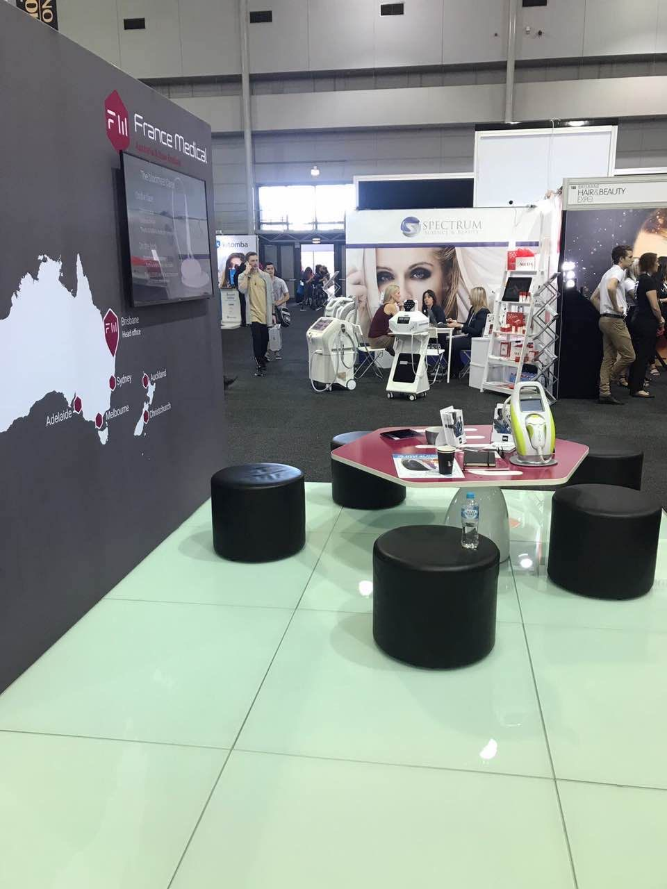White Glass Tradeshow Floor
