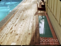 Wood Deck glass floor